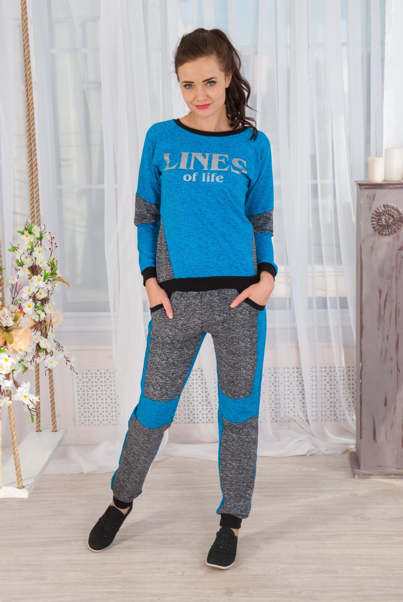 Костюм женский Линии толстовка и брюкиКостюмы<br><br><br>Размер: 40