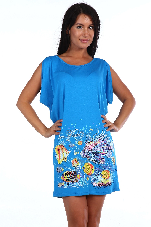 Туника женская НостальгияТуники<br><br><br>Размер: Голубой