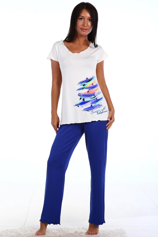 Пижама женская Флаундер футболка и брюкиПижамы<br><br><br>Размер: 52
