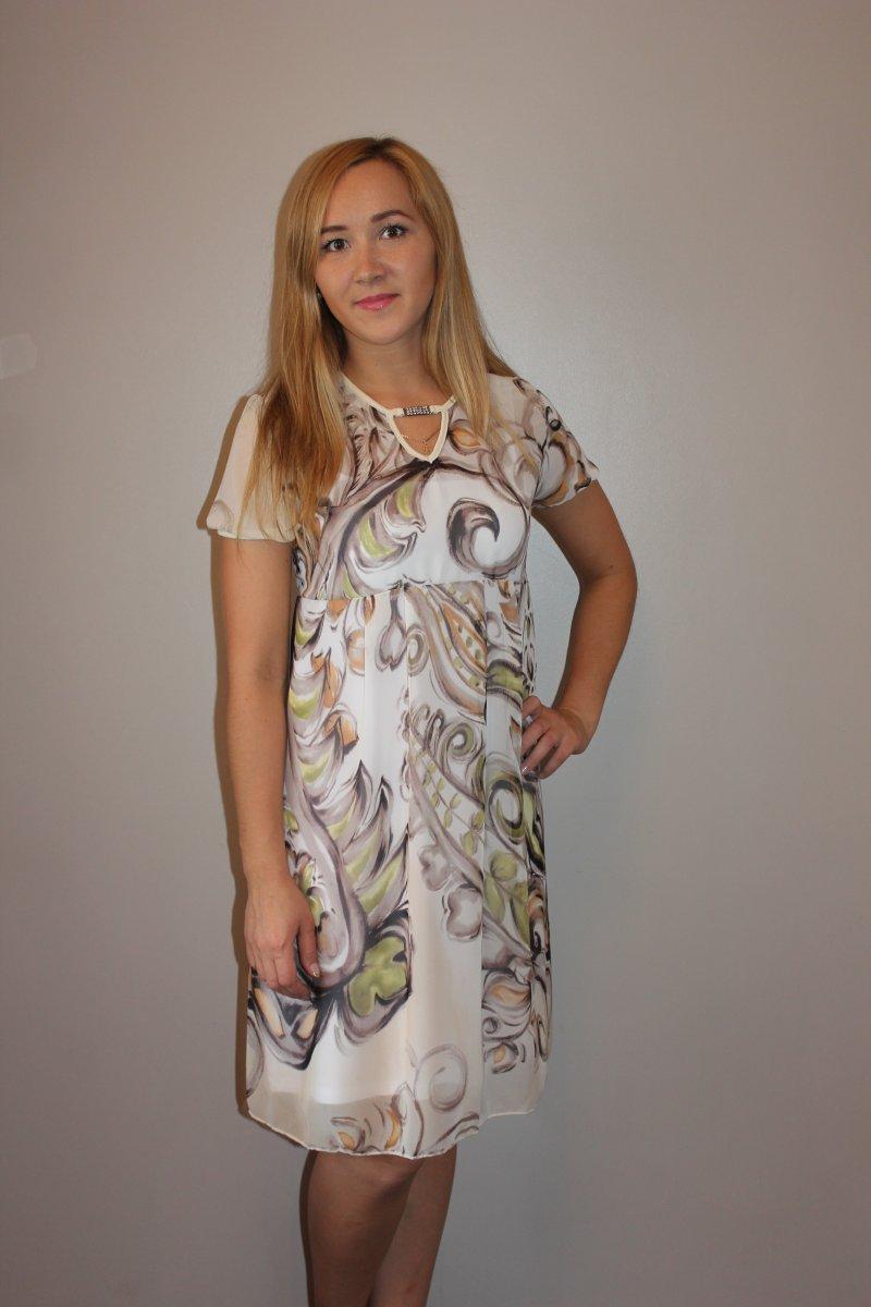 Платье женское Весенний ветерКоллекция ВЕСНА-ЛЕТО<br><br><br>Размер: 52