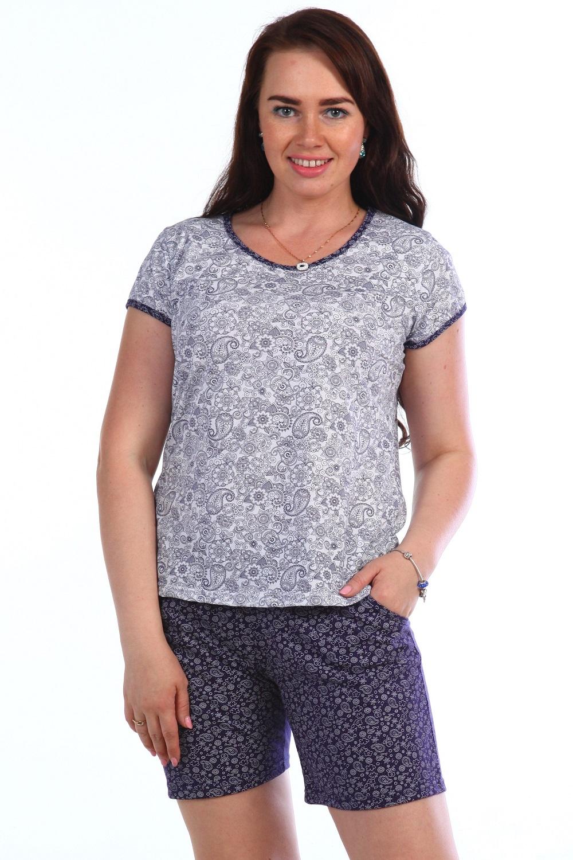 Пижама женская Прасковья футболка и шортыДомашняя одежда<br><br><br>Размер: Коричневый