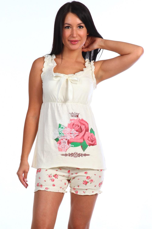 Пижама женская Рафаэлла майка и шортыПижамы<br><br><br>Размер: 44