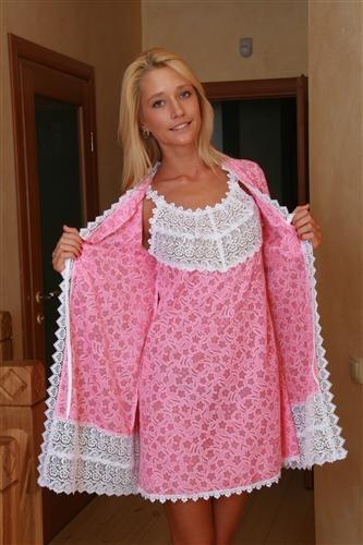 Пеньюар женский Изабель халат и сорочкаПеньюары<br><br><br>Размер: 50