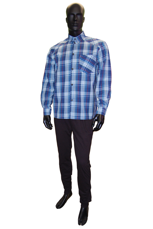 Рубашка мужская Александр длинный рукав, шотландкаРубашки<br><br><br>Размер: 46