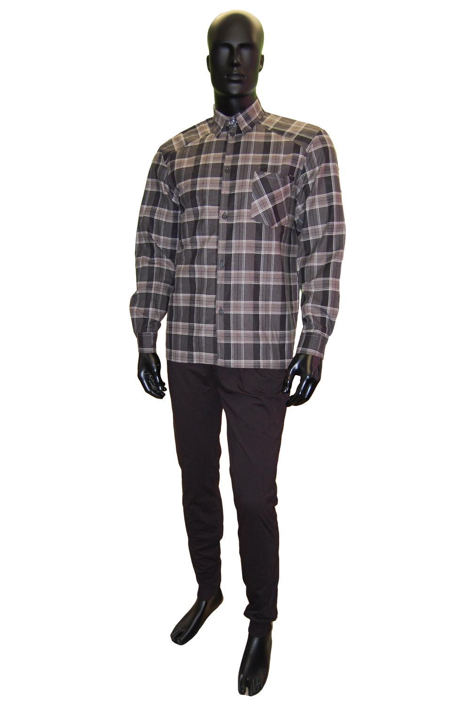 Рубашка мужская Клетка фланельРубашки<br><br><br>Размер: 46