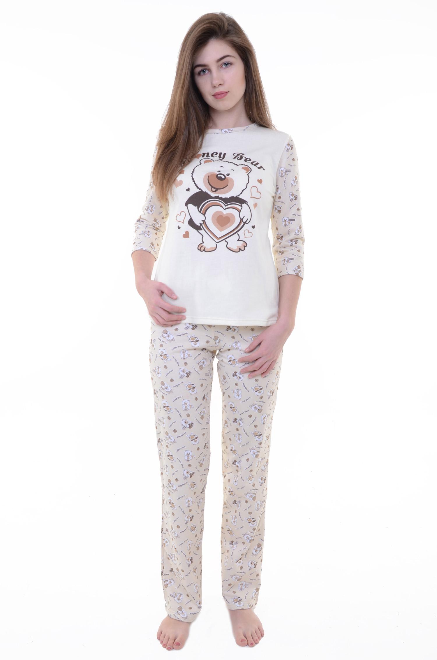 Пижама женская Винни кофта и брюкиПижамы<br><br><br>Размер: 52