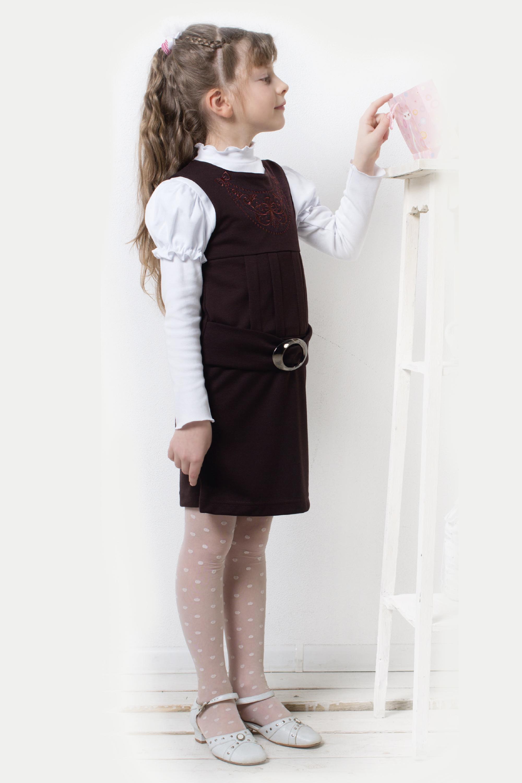 Сарафан школьный для девочки Ученица-2Школьная форма<br><br><br>Размер: 140
