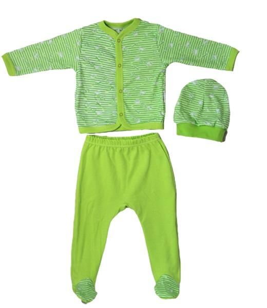 Комплект для новорожденного Чудо кофточка, ползунки и шапочкаКостюмы, комплекты одежды<br><br><br>Размер: 24 (рост 74 см)