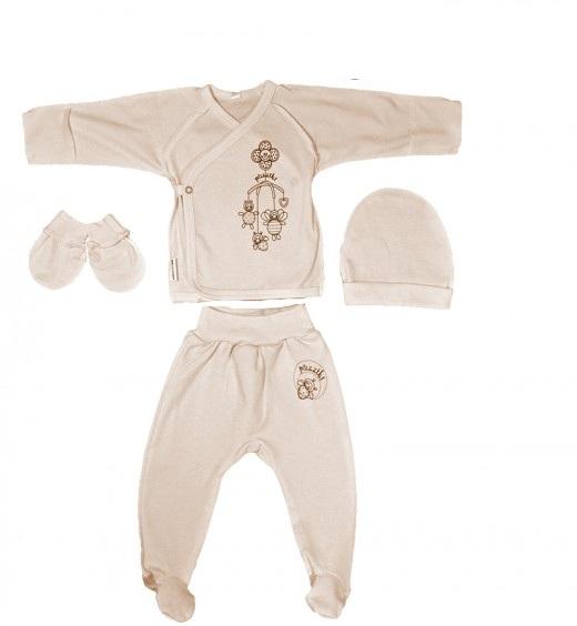 Комплект для новорожденного Игрушки ползунки, распашонка, царапки и шапочкаКостюмы, комплекты одежды<br><br><br>Размер: 20 (рост 62 см)