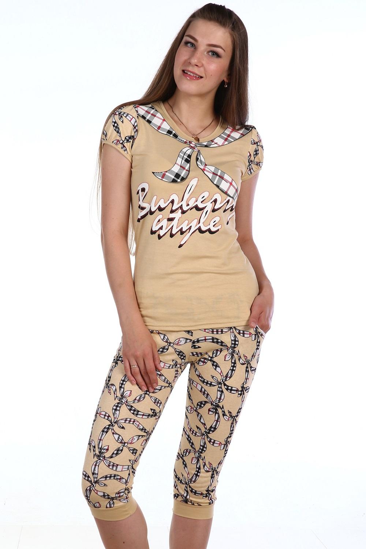 Пижама женская Таира футболка и бриджиПижамы<br><br><br>Размер: 40