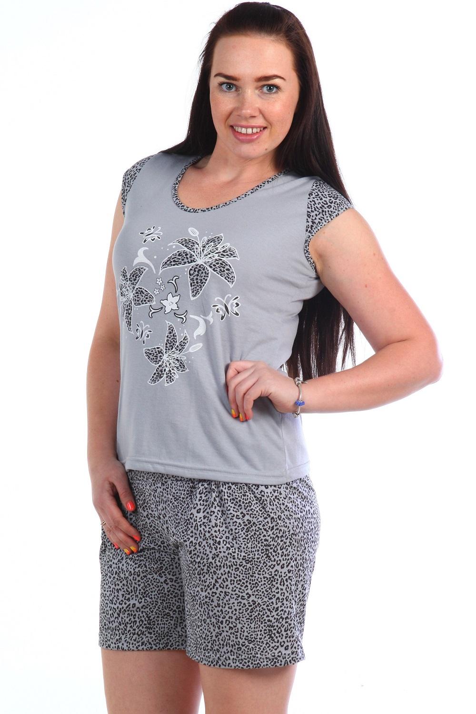 Костюм женский Тирамису футболка и шортыДомашние комплекты, костюмы<br><br><br>Размер: 46