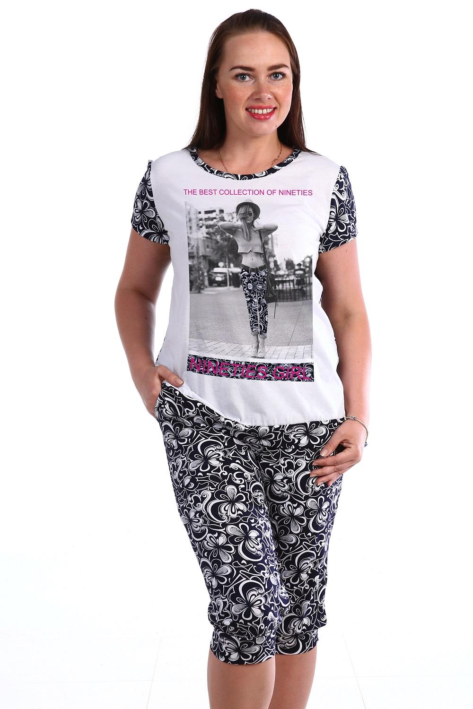 Костюм женский Вист футболка и бриджиДомашние комплекты, костюмы<br><br><br>Размер: 58