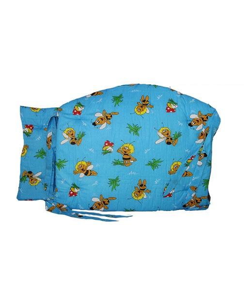 Бортики в кроватку Пчёлка МайяКомплекты в коляску, кроватку<br><br><br>Размер: Голубой