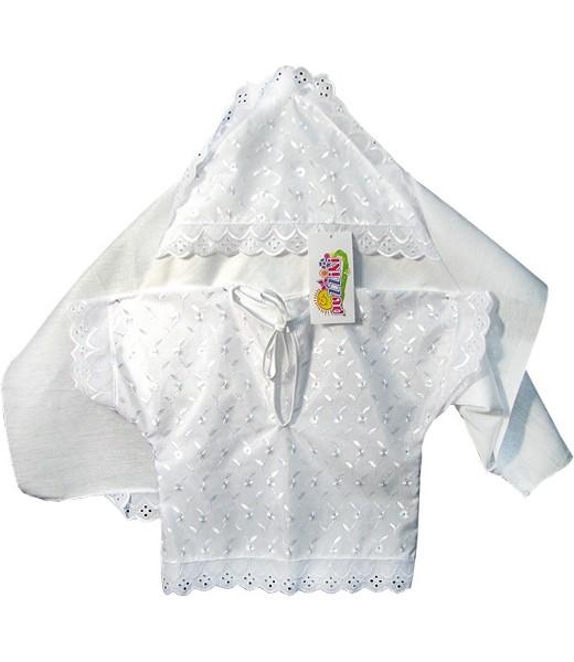 Распашонка и чепчик для крещения МилашкаКрестильные наборы<br><br><br>Размер: 24 (рост 80 см)
