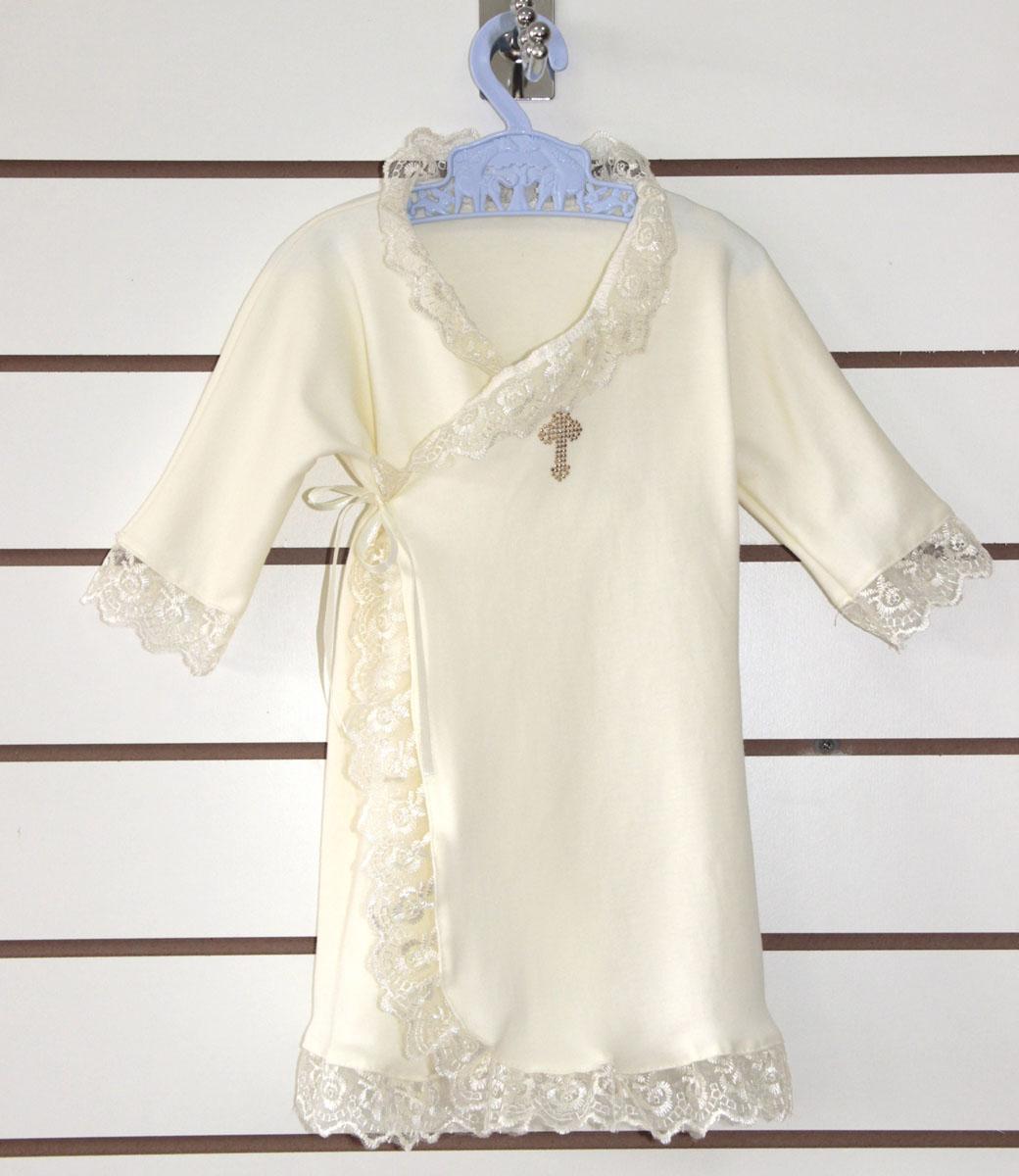 Крестильная рубашка СкромняшкаКрестильные наборы<br><br><br>Размер: 22 (рост 74 см)
