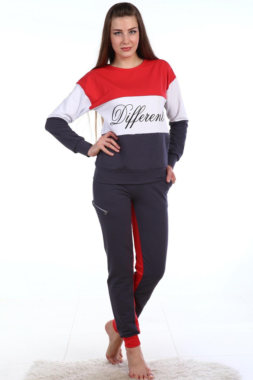 Костюм женский Диферент толстовка и брюкиСпортивные костюмы<br><br><br>Размер: 56