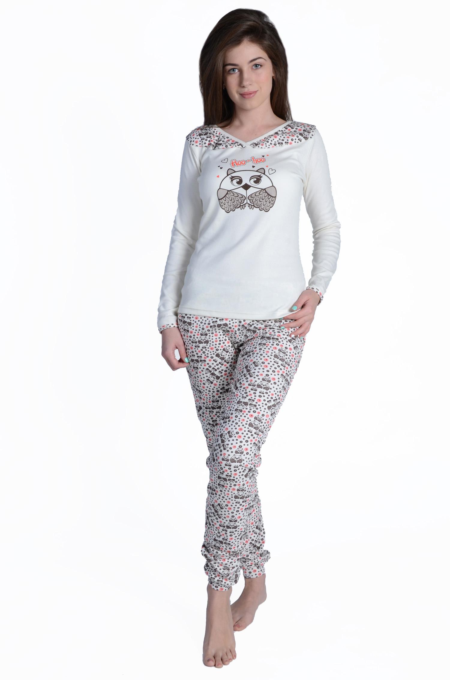 Пижама женская Филин кофта и брюкиПижамы<br><br><br>Размер: 52