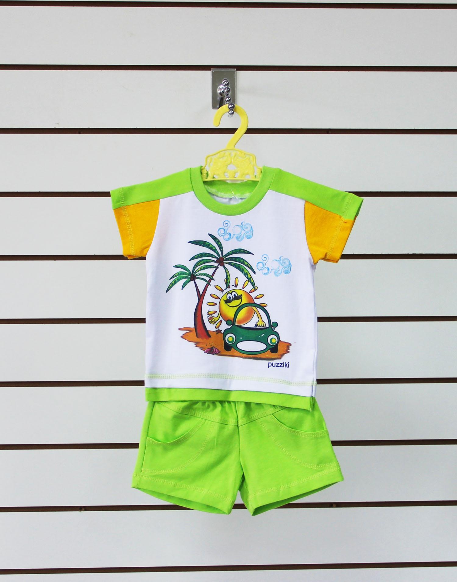 Комплект одежды детскийСолнышко-2 футболка рукав лампас и шортыКомплекты и костюмы<br><br><br>Размер: Розовый