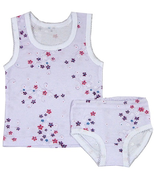 Комплект для девочки Цветочек майка и трусикиНижнее белье<br><br><br>Размер: Цветочки