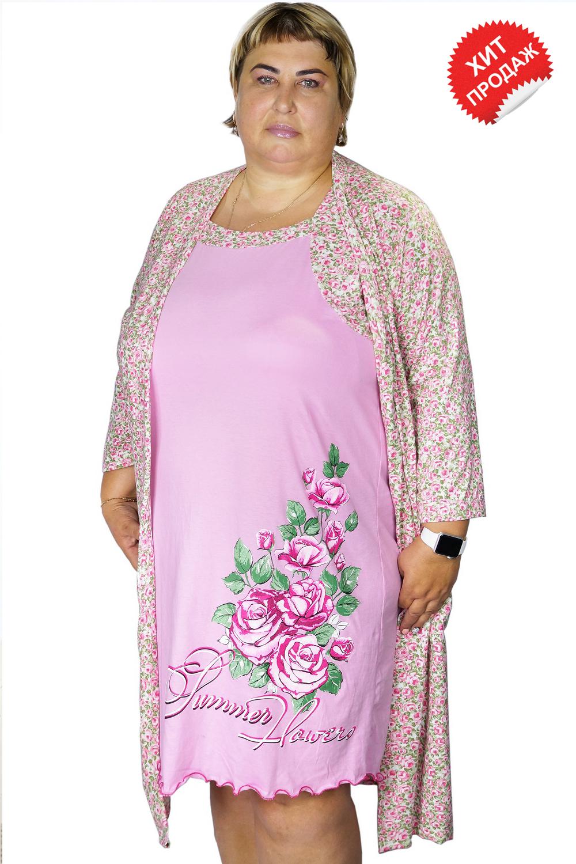 Пеньюар женский Морфей сорочка и халатДомашняя одежда<br><br><br>Размер: 62