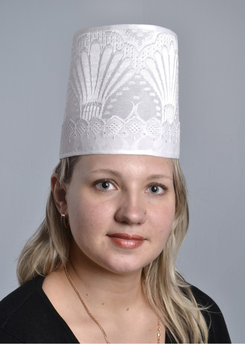 Кокошник НаташаДля общепита<br><br><br>Размер: Белый