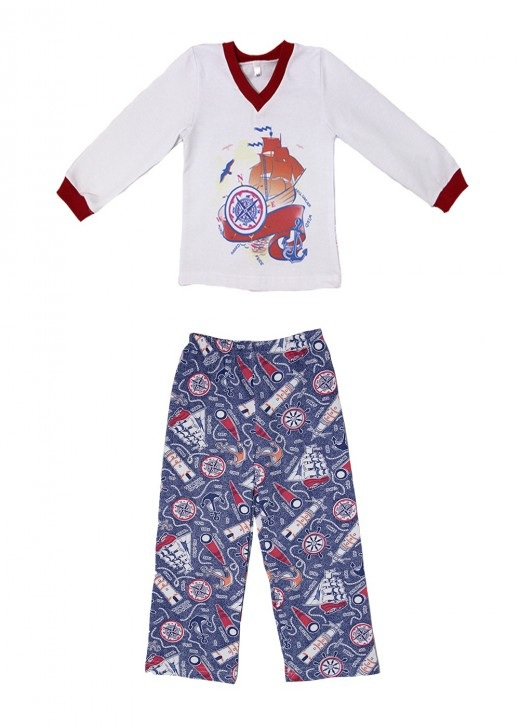 Пижама для мальчика ЯхтаХалаты и пижамы<br><br><br>Размер: 36 (рост 122 см)