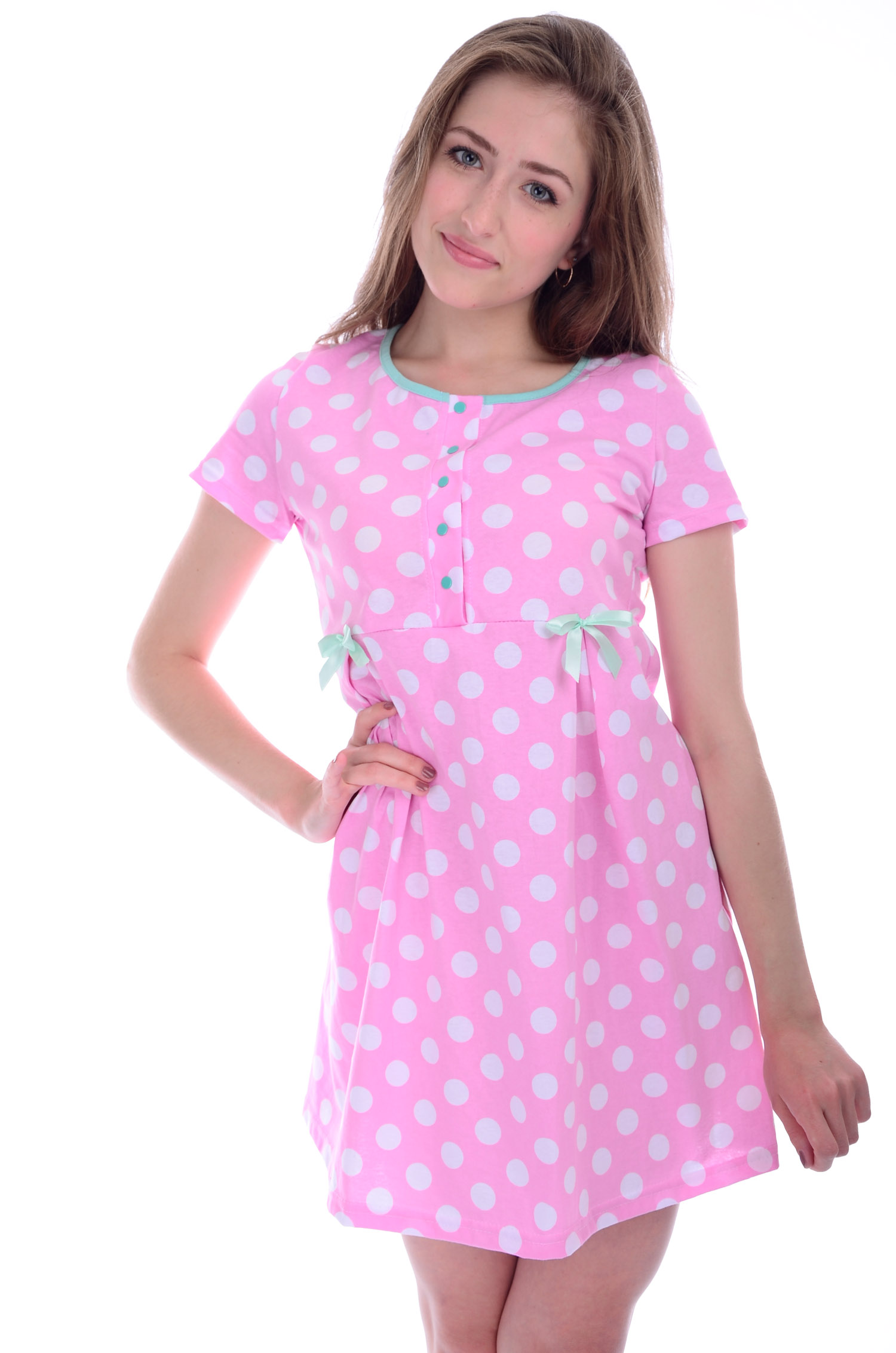 Сорочка женская ПэппиДомашняя одежда<br><br><br>Размер: 46