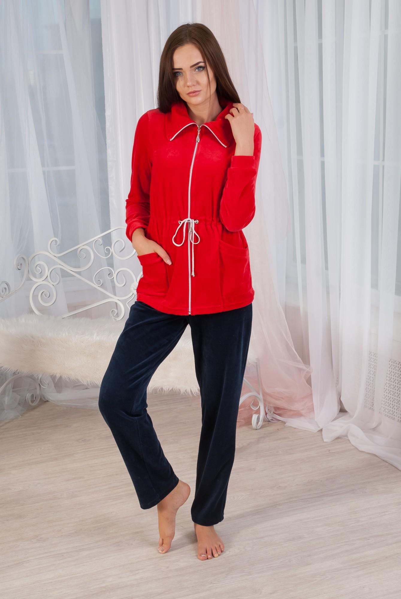 Костюм женский Берта толстовка на молнии и брюкиКоллекция ОСЕНЬ-ЗИМА<br><br><br>Размер: 44