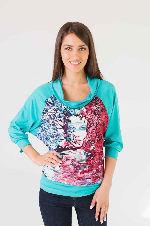 Блуза женская ОфелияТуники, рубашки и блузы<br><br><br>Размер: 48