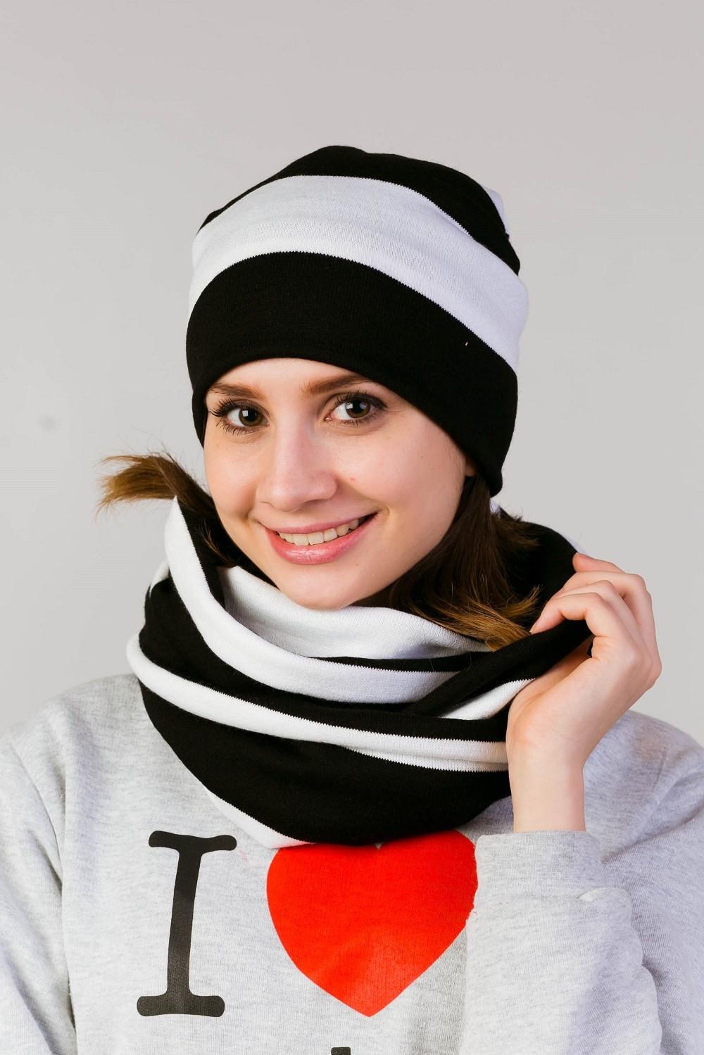 Комплект Променад шапка и шарфГоловные уборы<br><br><br>Размер: 56