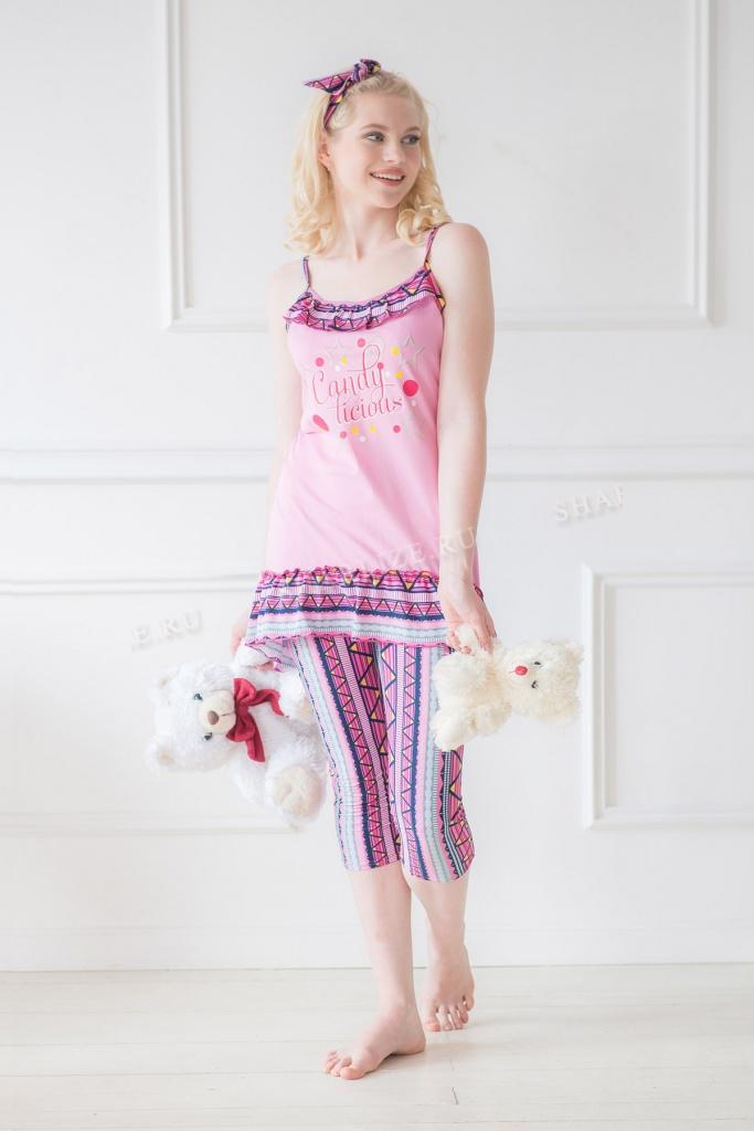 Костюм женский Суок туника + легинсыДомашние комплекты, костюмы<br><br><br>Размер: 42