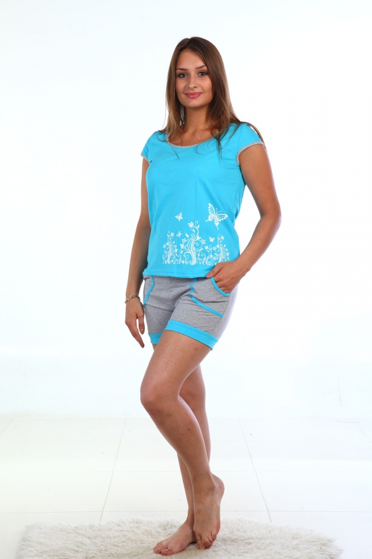 Костюм женский Полдень футболка и шортыДомашние комплекты, костюмы<br><br><br>Размер: 46
