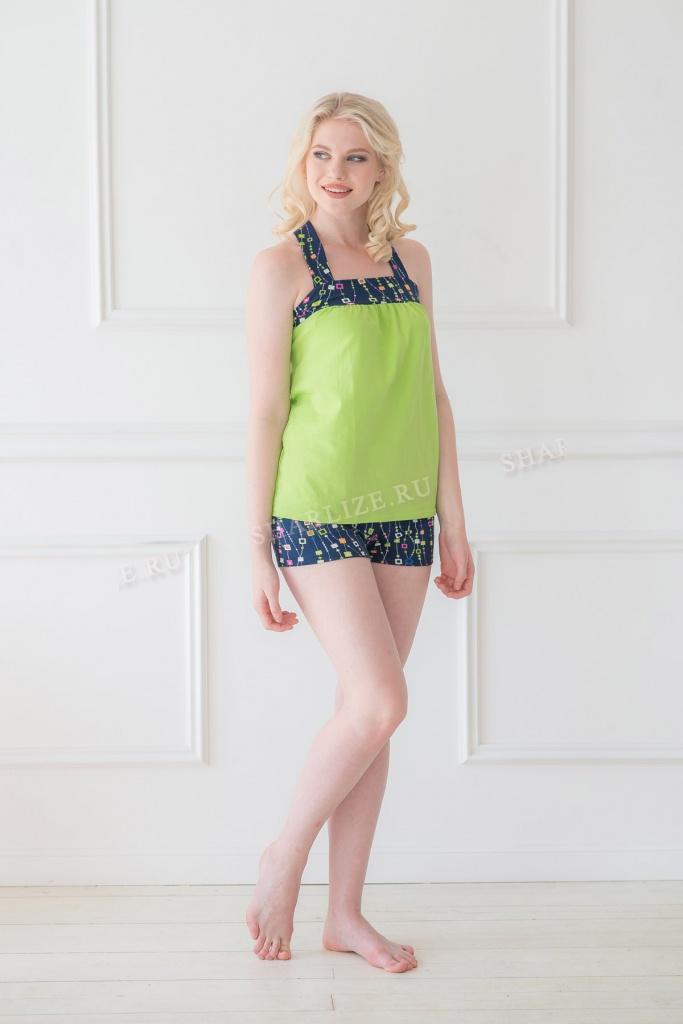 Костюм женский Рона майка + шортыДомашние комплекты, костюмы<br><br><br>Размер: 48