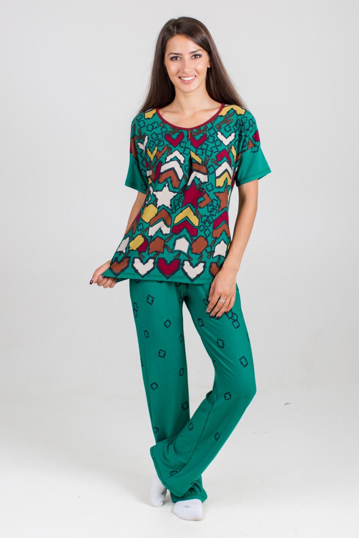 Костюм женский Бьянка туника и брюкиДомашняя одежда<br><br><br>Размер: 56