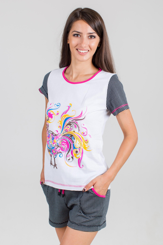 Костюм женский Феникс-3 футболка и шортыДомашние комплекты, костюмы<br><br><br>Размер: 48