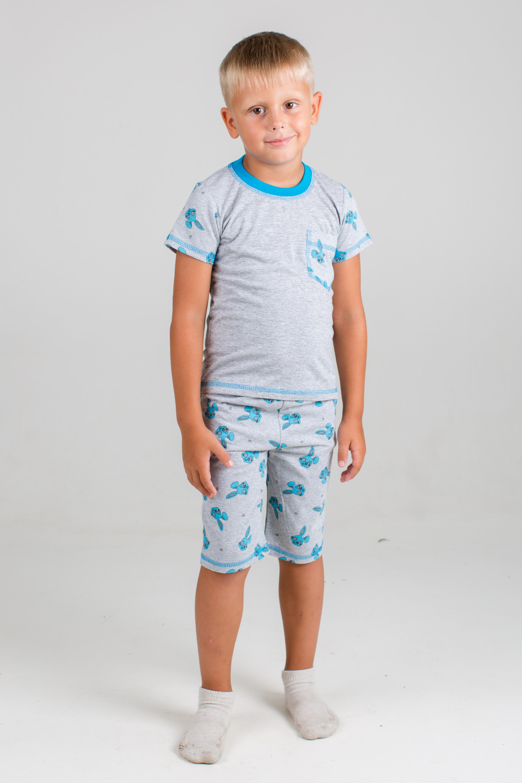 Пижама детская для мальчика Зайка-2 с коротким рукавомХалаты и пижамы<br><br><br>Размер: 26 (рост 104 см)