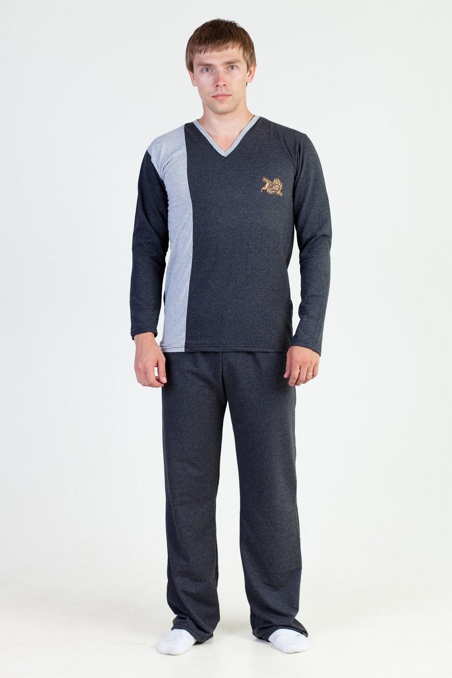 Пижама мужская Зодиак футболка и брюкиОдежда для сна<br><br><br>Размер: Коричневый