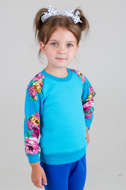 Свитшот детский для девочки ЛерочкаСвитеры, водолазки, джемперы<br><br><br>Размер: 34 (рост 128 см)