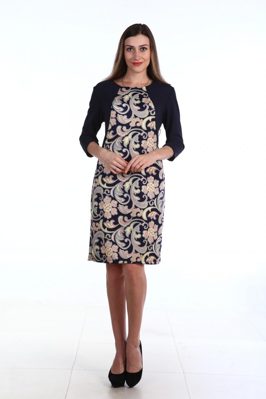 Платье женское Восточный цветокПлатья и сарафаны<br><br><br>Размер: 48