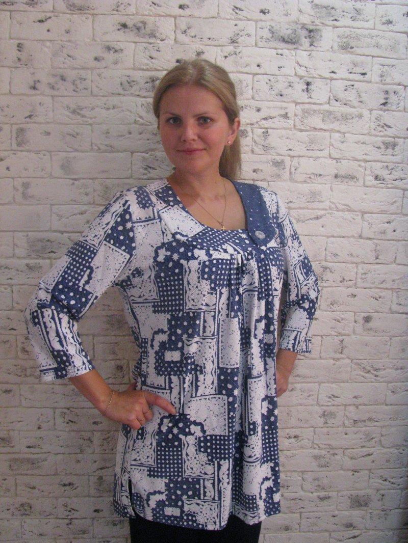Туника женская ПавияТуники, рубашки и блузы<br><br><br>Размер: 58