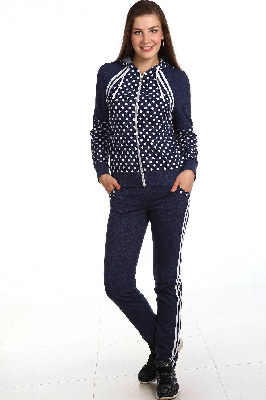 Костюм женский Горошек толстовка и брюкиКостюмы<br><br><br>Размер: 48
