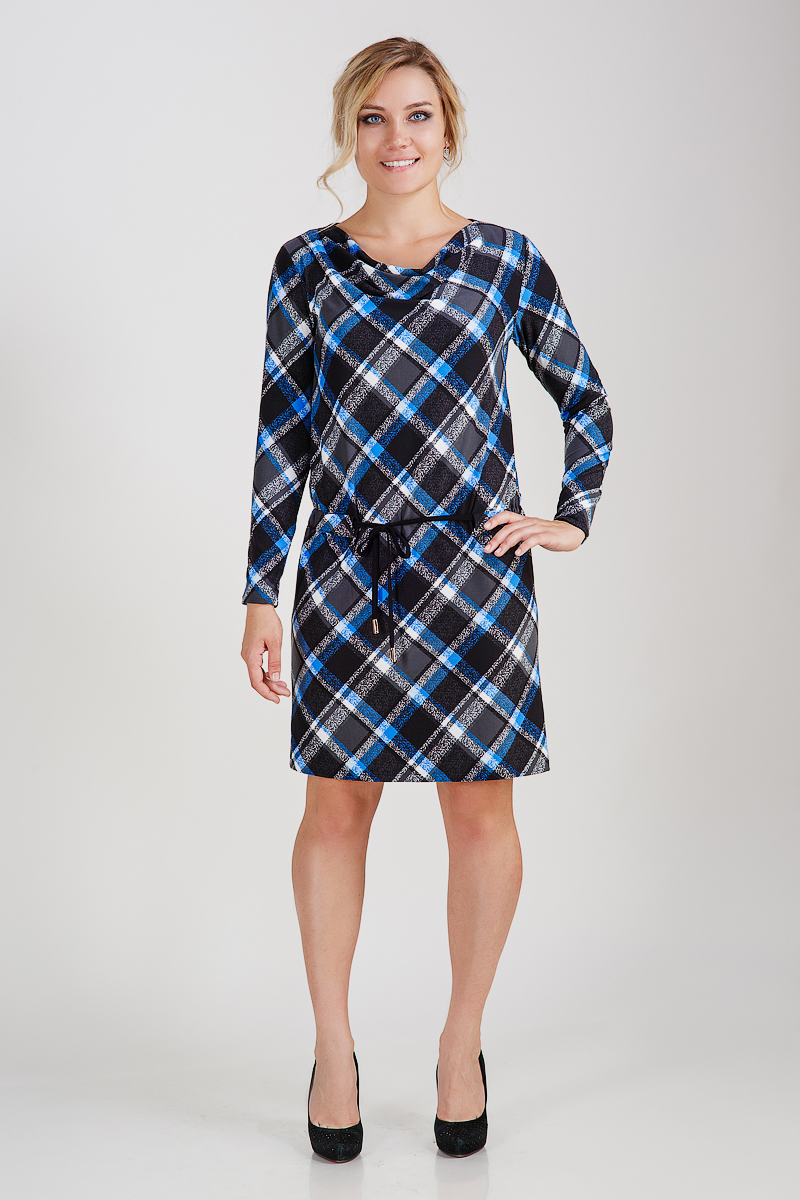 Платье женское ШотландкаПлатья<br><br><br>Размер: Красный