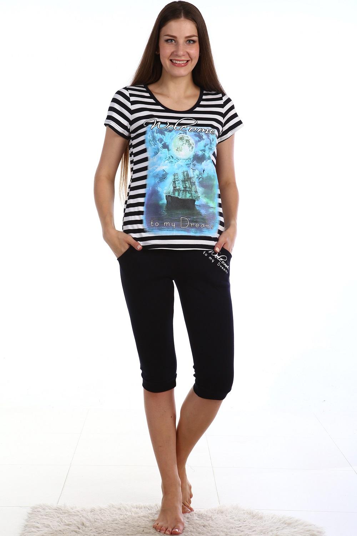 Костюм женский Dreams футболка и бриджиКостюмы<br><br><br>Размер: 46