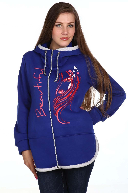 Толстовка женская ДоминикаТолстовки, свитшоты <br><br><br>Размер: Синий