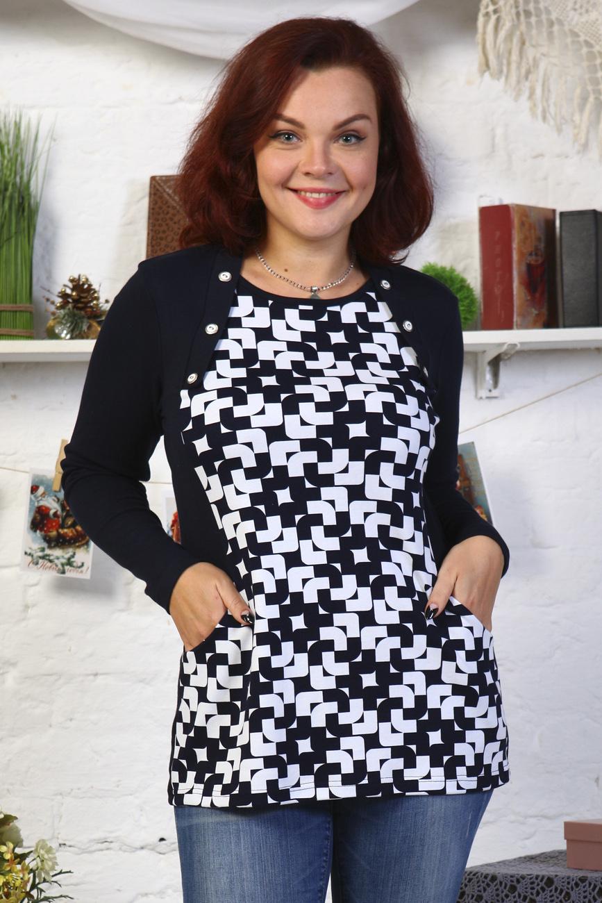 Блуза женская СинделТуники, рубашки и блузы<br><br><br>Размер: 56