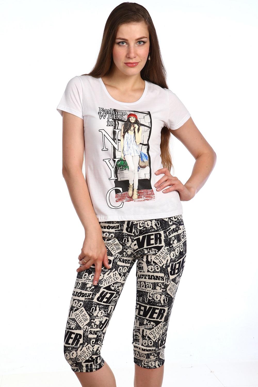 Костюм женский Катрин футболка и бриджиКостюмы<br><br><br>Размер: 48