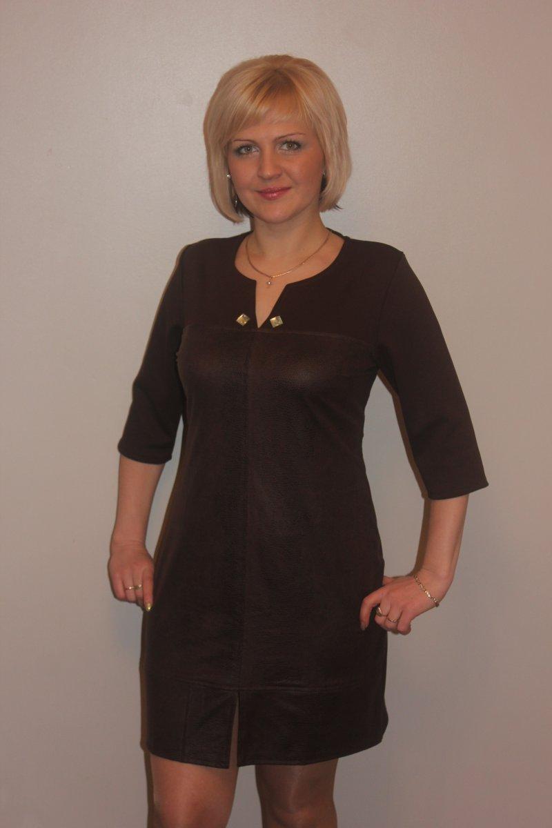 Платье женское Элеонора коричневоеПлатья и сарафаны<br><br><br>Размер: 46