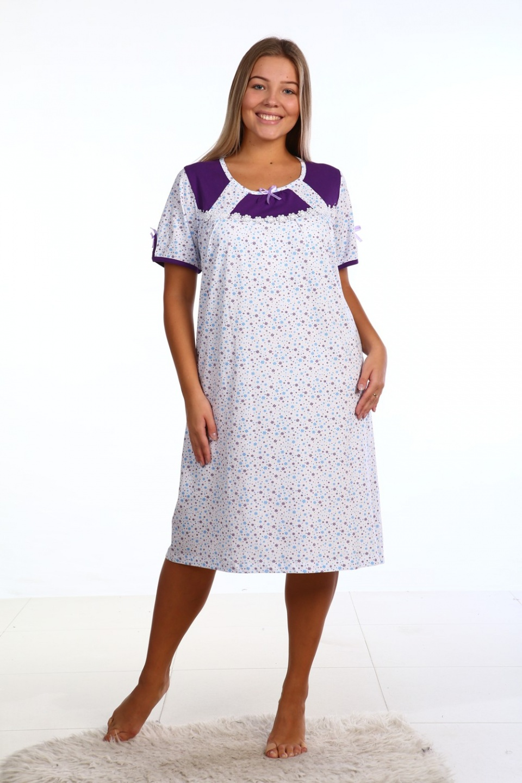 Сорочка женская с коротким рукавом Алина<br><br>Размер: 50