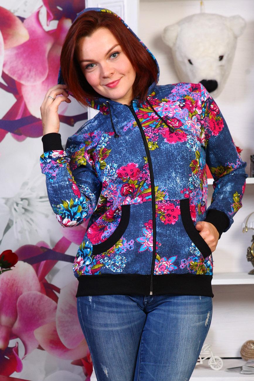 Толстовка женская ОктябринаКофты, свитера, толстовки<br><br><br>Размер: 46