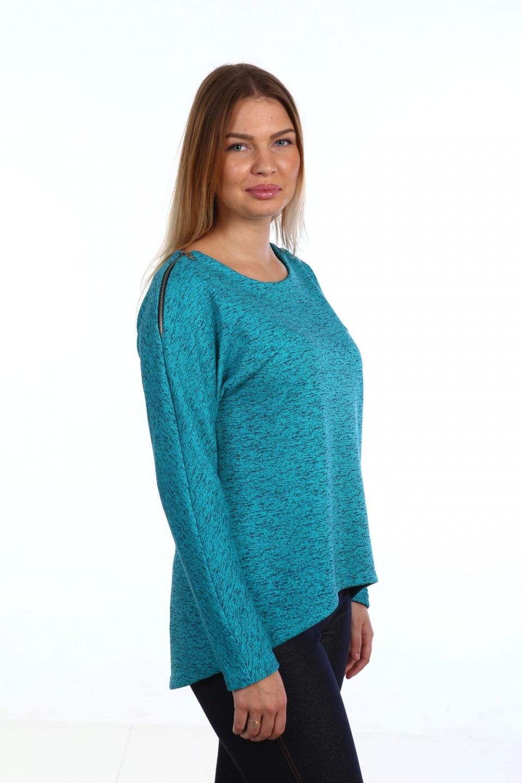 Туника женская БирюзаТуники, рубашки и блузы<br><br><br>Размер: 56